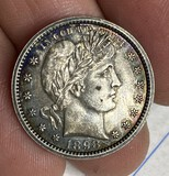 Nice 1898 Silver Barber Quarter Dollar coin