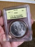 1887-O PCGS MS-62 Morgan Dollar Silver Coin