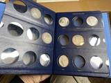 9 Morgan Silver Dollar Coins in Album