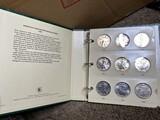 18 US Mint Silver Dollar 1 oz Coins in Album