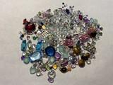 Very large lot diamonds, gems, rhinestones