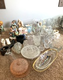 Assortment of Glassware, Vases, Musical Figurine, & More