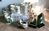 Beer Steines, Advertising Bottles, Glassware & More