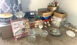 Large Assortment of Glassware, Stemware, Large Glass Platter, & More