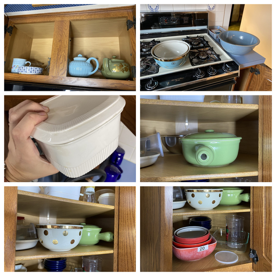 Assortment of vintage Hall ceramics and more