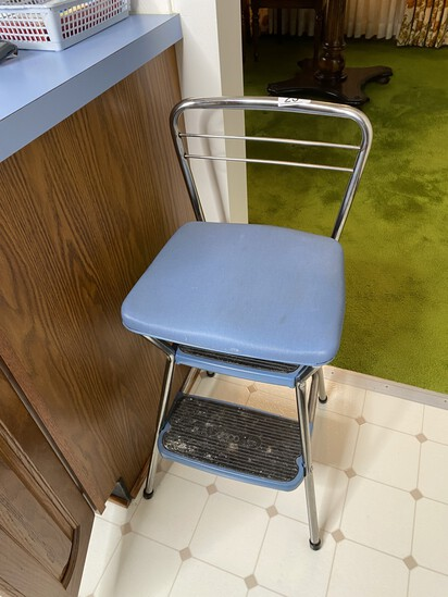 Vintage kitchen stool chair combo