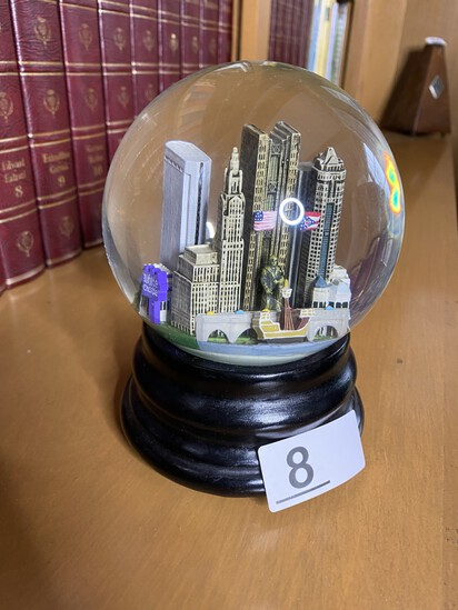Vintage Saks Fifth Ave. Columbus Snow Globe