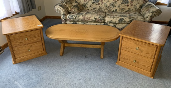 Custom Made End Tables & Coffee Table