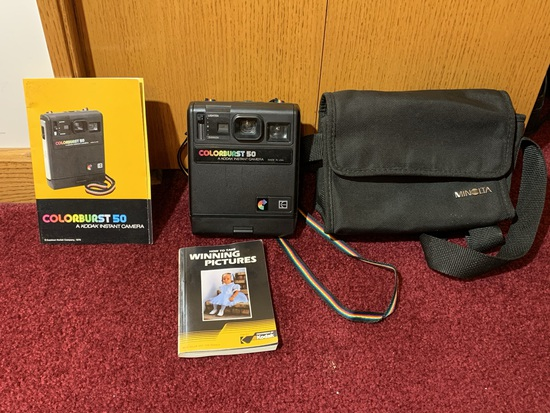 Kodak Colorburst 50 Instant Camera with Manuals