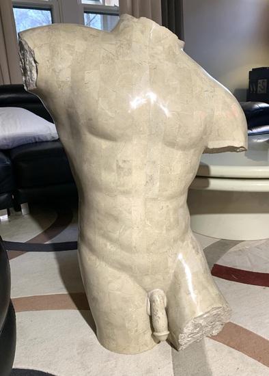 Male Torso Composite Statue