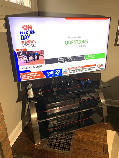 55 inch Samsung Tv with Remote & Tv stand