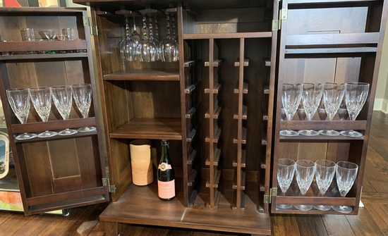 12 pieces of Waterford Crystal  Stem Glasses & Assortment of Other Glassware