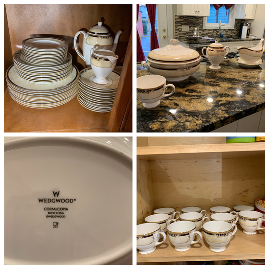 68 Piece Wedgwood China Set.  Well taken care of.