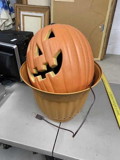 Light Up Halloween Pumpkin and Planter