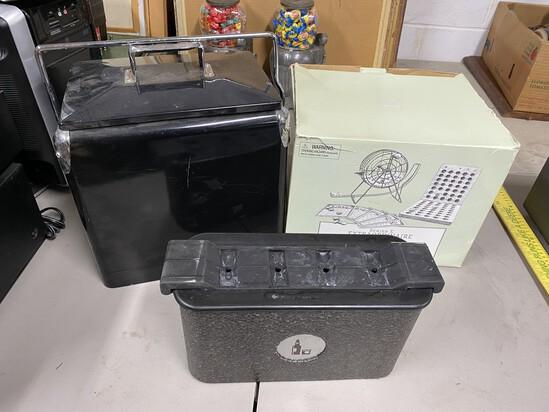 Coolers, plus bingo set