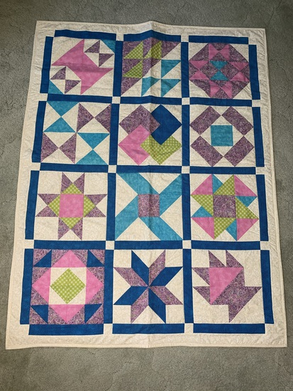 Home Made Quilt 57 inches Long x 44 inches Wide