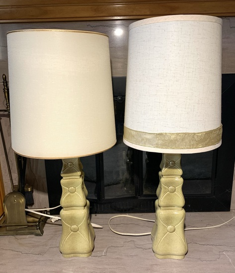 Pair of Beautiful Vintage Retro Style Lamps