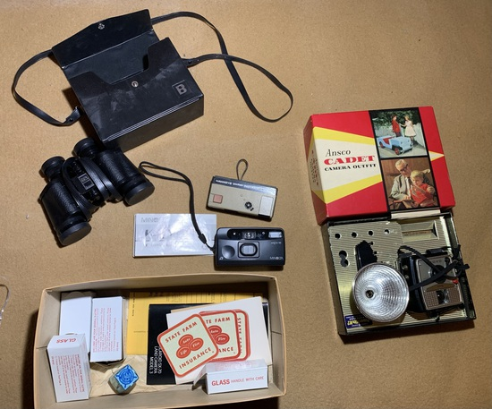 Ansco Camera, Bushnell Binoculars, Hawkeye Camera and More