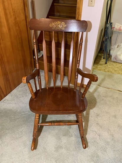 Made in Malaysia Rocking Chair - See Photos There is some Damage