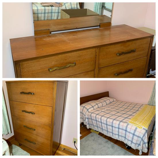 Mid Century Style Queen Bedroom Suite