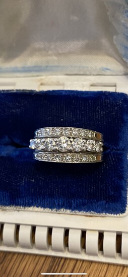 Antique 950 Platinum and 1.10 ctw near flawless diamond ring