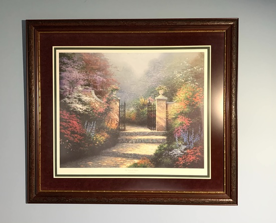 Limited Edition S/N Print on Canvas The Victorian Garden by Thomas Kinkade.