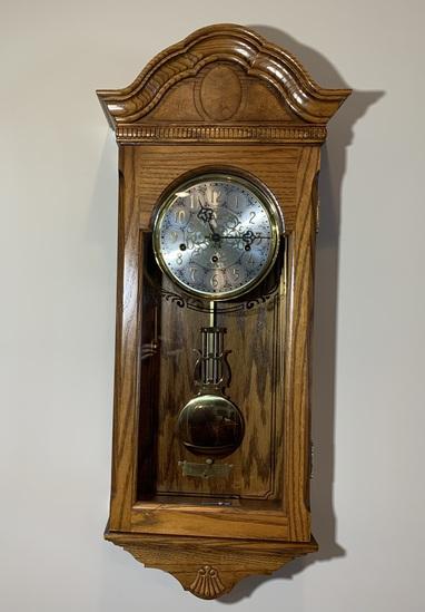 Sligh Clock Co. Chiming Wall Clock.  See Photos