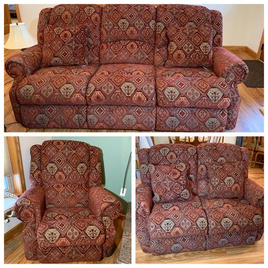 Custom Upholstered La-Z-Boy  Living Room Set