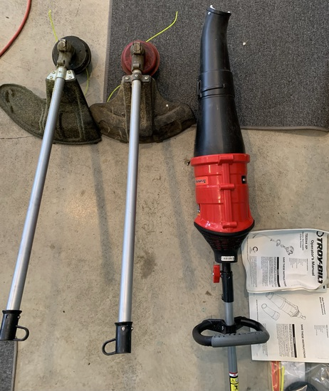 Troy-Built String Trimmer with Additional Head Attachments