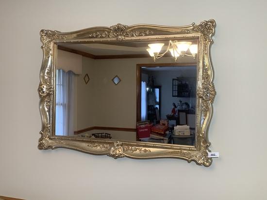 Large Rectangular Shiny Gold Mirror