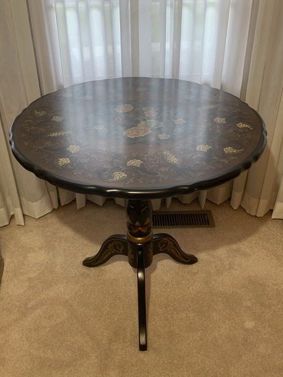 Modern Pedestal Table with Beautiful Design on Top and Base