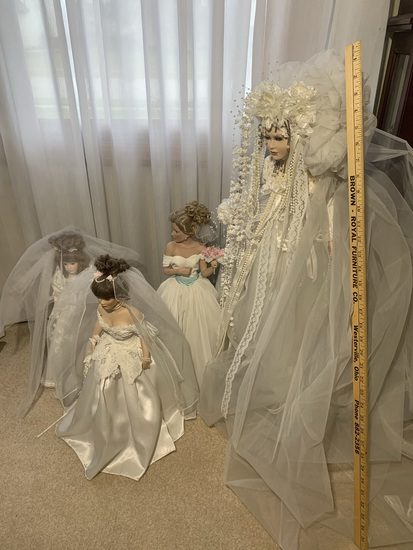 Group of Bridal Dolls - One is Patricia Rose & One is Dynasty Doll Collection
