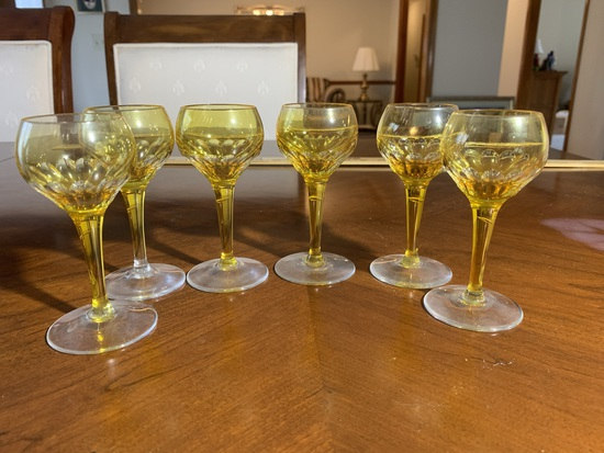 6 Cordial Glasses (no name stamp)