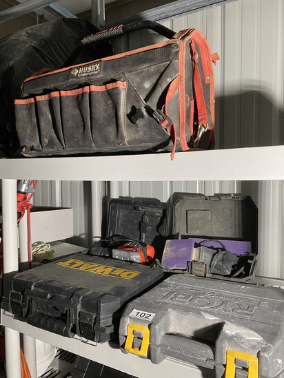 Assorted Electric Tools, Tool Bag, cases