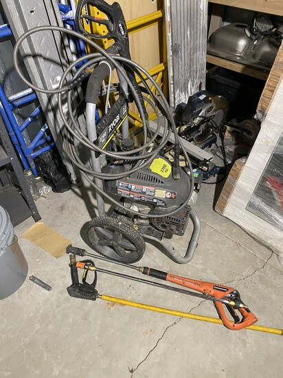 Ryobi Gas Powered Pressure washer with accessories