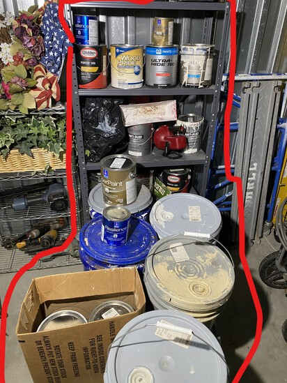 Huge lot of paint from a painting contractor