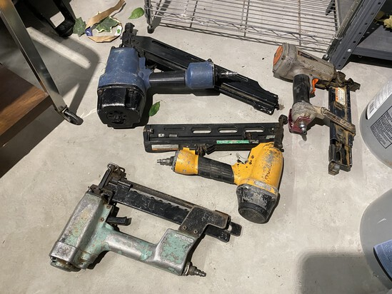 Group of 4 air nailers