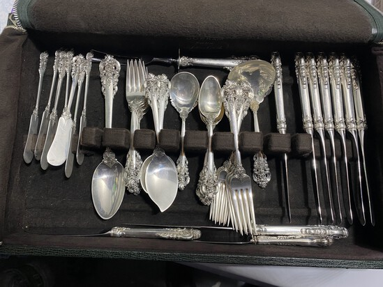 Sterling Silver Flatware Set by Wallace