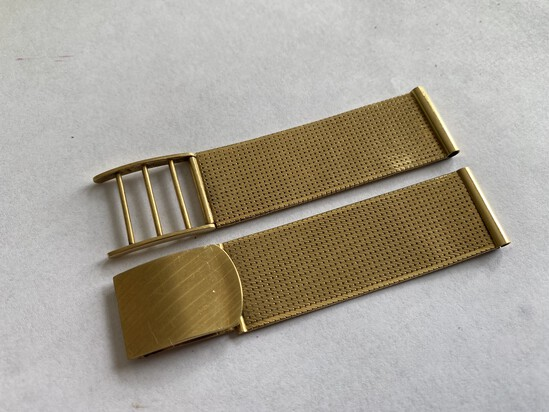 Fine 1950s 18k Gold Men's Watch Band