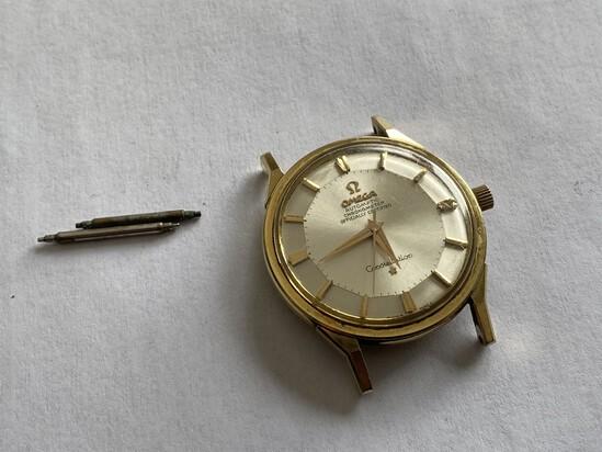 14k Gold Omega Constellation Pie Pan Watch