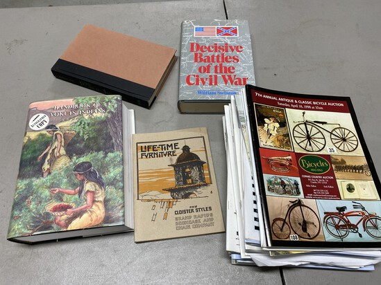 Group of auction catalogs, books on Native Americans etc