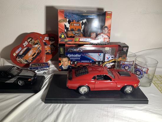 ERTL Diecast Cars, NASCAR Glasses, Road Champs Radio Control Car, Hot Wheels & More