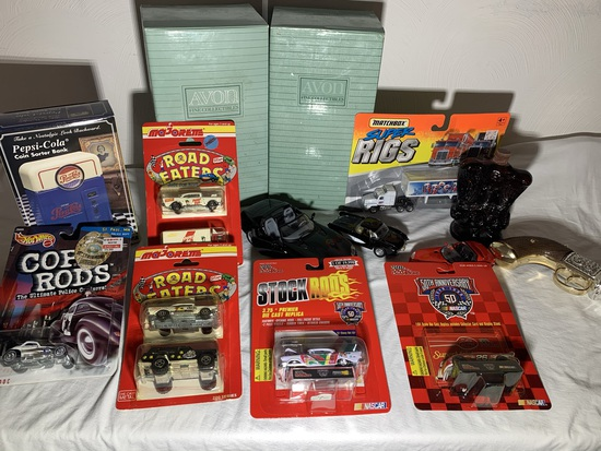 Majorette Road Eaters Cars, Avon Bottles, Pepsi-Cola Coin Bank, Hot Wheels, Matchbox, Diecast & More