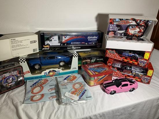 Racing Champions Club Member Set, Diecast Cars, Hot Wheels Lunch Box, ERTL Hershey's Car & More