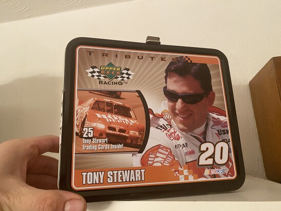 Tony Stewart Upper Deck Metal Lunchbox