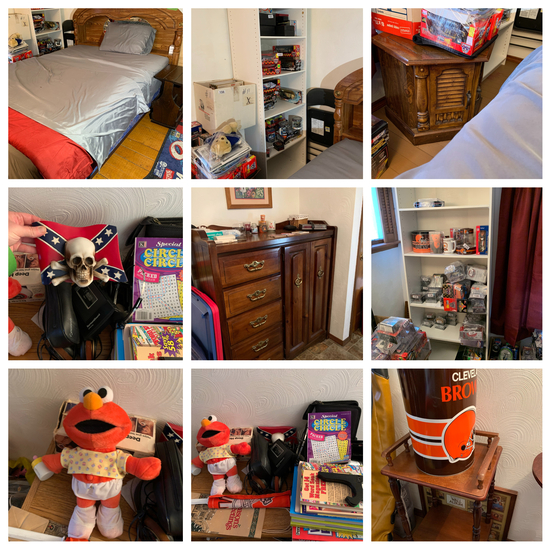 Queen Bed with Mattress Dresser & Wardrobe and more
