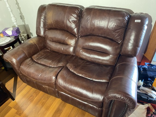 Nice Leather Double Electric Recliner Sofa