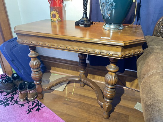 NIce Older Table with elaborate base