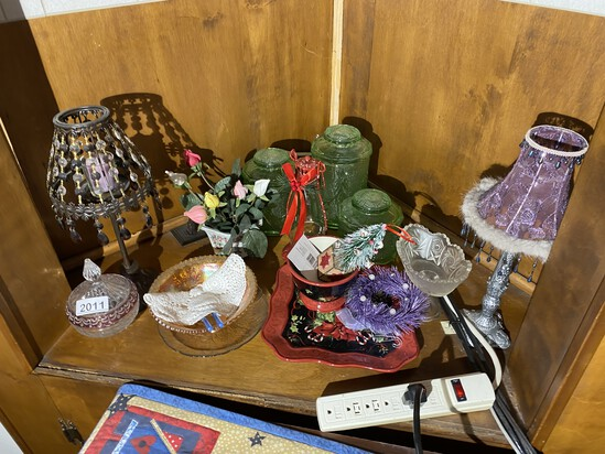 Group lot of assorted glass and more