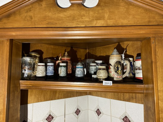 Large lot of assorted Steins